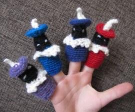 Zwarte Pieten vingerpopjes zelf haken