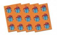 Losse set oranje surprisestickers