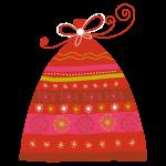 Vouwdoosje: de zak van de Kerstman