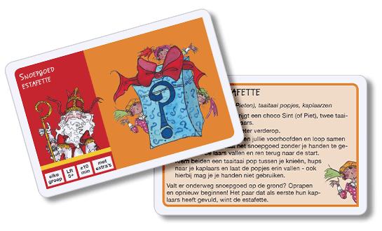 Sinterklaas Surprisespel: spelkaart snoepgoed estafette
